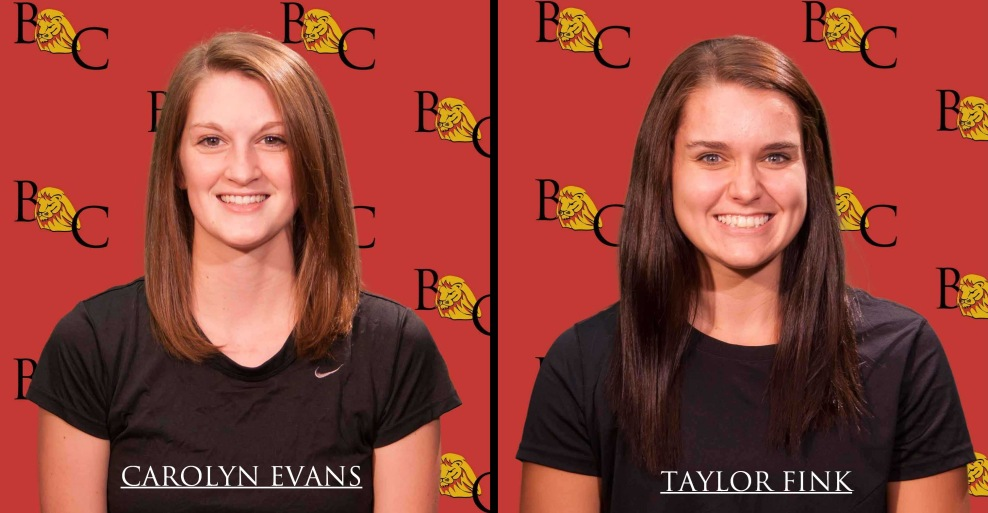 Carolyn Evans and Taylor Fink