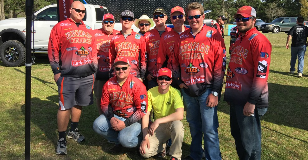 Bryan Anglers celebrating a great finish at the Cabela's Dardanelle Derby.