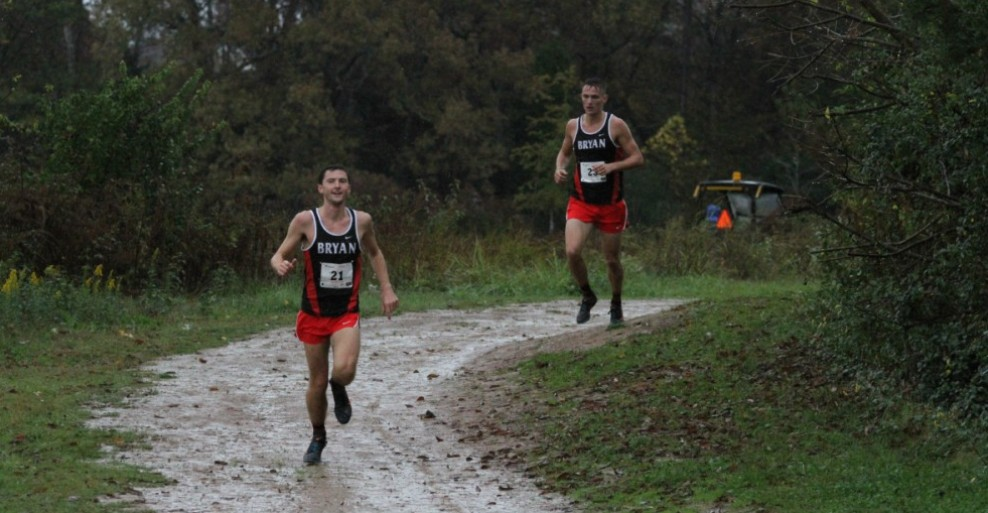 Pictured above: Conference Champion Tyler Boone (front) followed by third place finisher Grif Rutherford (back)