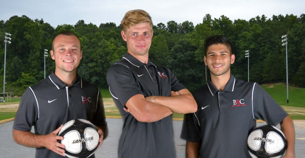 Seniors: Miles Christian (left), Joel Glover (middle), and Josue Fernandez (right)