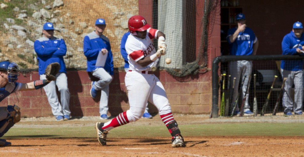 (Picture by: Wesley Sanders) Pictured is CJ Owens hitting his 2nd homerun of game 2 in Bryan's series with Tenn. Wesleyan.