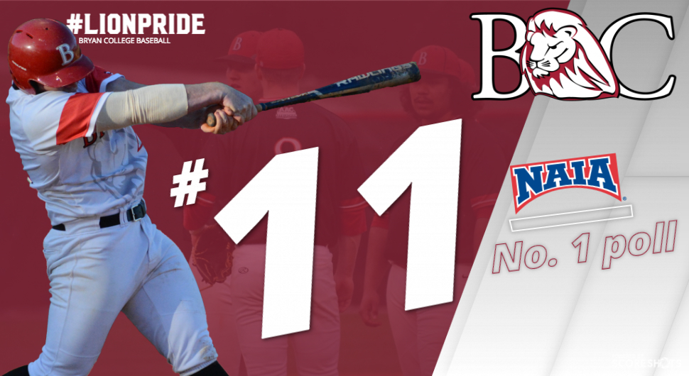 Baseball Receives Highest Ever Ranking At No 11 Bryan College