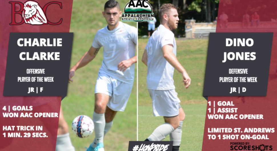 Photo for Clarke And Jones Sweep AAC Men's Soccer POW Awards