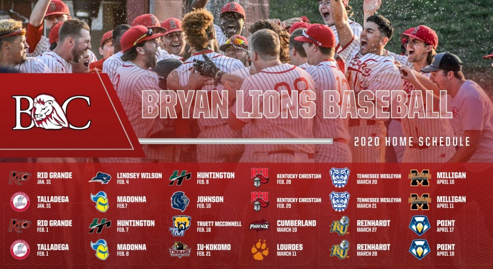No 18 Bryan Baseball Releases 2020 Schedule Bryan College